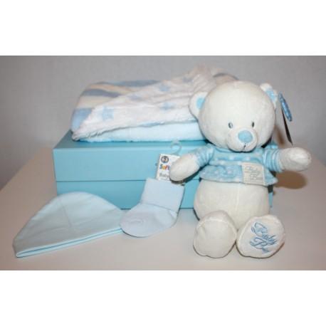 "Coffret naissance ""basic"" bleu"