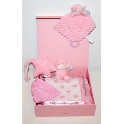 """Geboortedoos """"De Luxe"""" roze"""