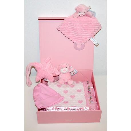 """Coffret naissance """"De Luxe"""" rose"""