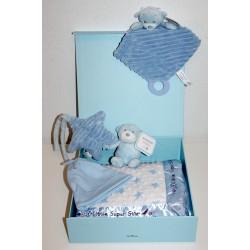 """Coffret naissance """"De Luxe"""" bleu"""