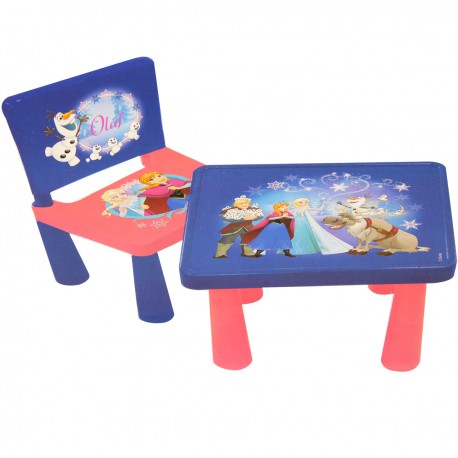 "Table + chaise ""La Reine des Neiges"""