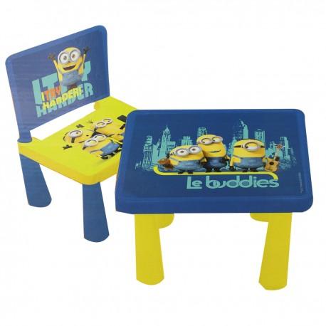 "Table + chaise ""Minions"""