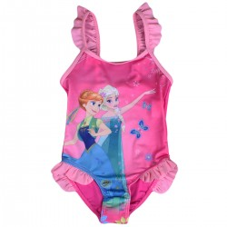 "Maillot de bain fille ""La Reine des Neiges"" rose"