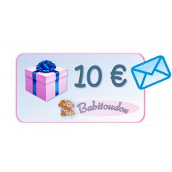 Cadeaubon 10€ met blauwe envelop