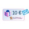 Carte cadeau 10€ avec enveloppe bleue