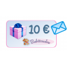 Gift card 10€ with blue envelope