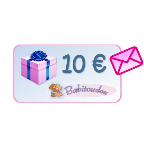 Carte cadeau 10€ avec enveloppe rose