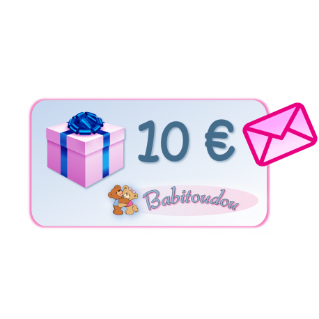 Gift card 10€ with pink envelope