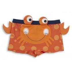 "Maillot de bain garçon ""crabe"" orange"