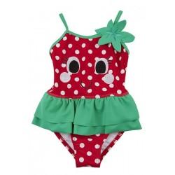 """Zwempak meisje """"aardbei"""" rood"""