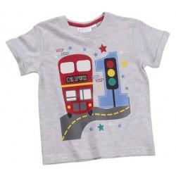 """T-shirt jongen """"1 jaar"""" grijs"""