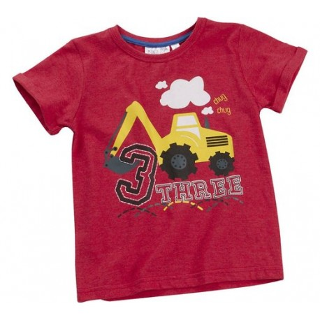 "T-shirt boy ""3 years"" red"