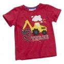 """T-shirt garçon """"3 ans"""" rouge"""