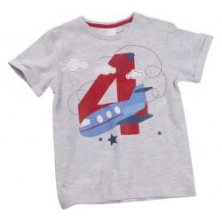 """T-shirt jongen """"4 jaar"""" grijs"""