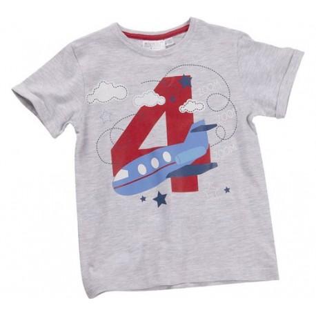 """T-shirt garçon """"4 ans"""" gris"""