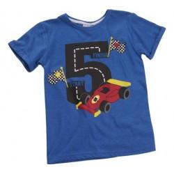 """T-shirt jongen """"5 jaar"""" blauw"""