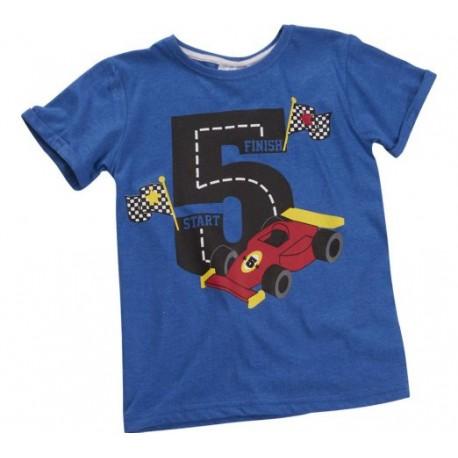 """T-shirt garçon """"5 ans"""" bleu"""