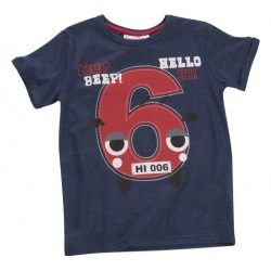 "T-shirt boy ""6 years"" navy blue"