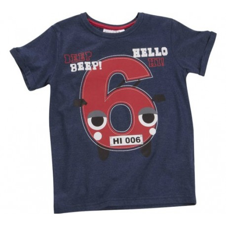 """T-shirt jongen """"6 jaar"""" marineblauw"""