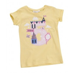 "T-shirt girl ""5 years"" yellow"