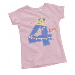 "T-shirt girl ""4 years"" pink"