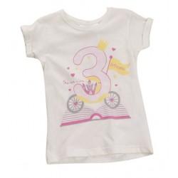 "T-shirt fille ""3 ans"" blanc"