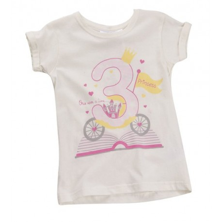 """T-shirt meisje """"3 jaar"""" wit"""