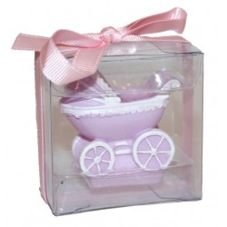 "Candle ""pram"" purple"