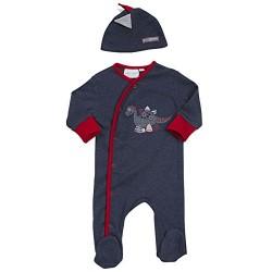 """Pyjama """"dinosaure"""" bleu-marine avec bonnet"""