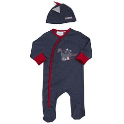 "Sleepsuit ""dinosaur"" navy blue with hat"