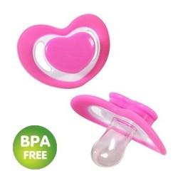 Fopspeen hart roze (2 stuks)