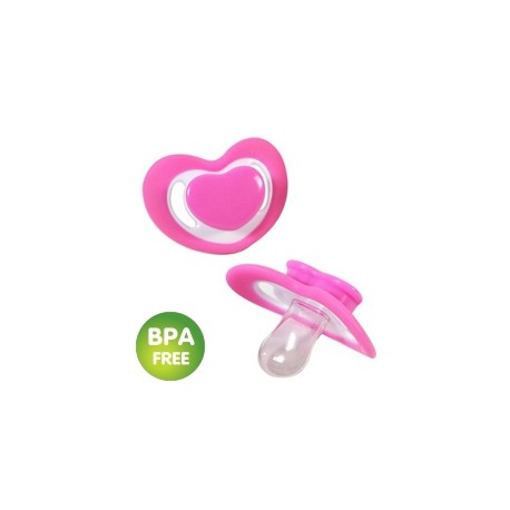 Heart-shaped soother pink (pack of 2)