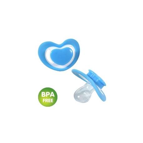 Tétine/Sucette en coeur bleue (par 2)