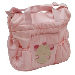 "Sac à langer ""ourson"" rose"