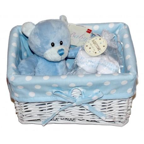 "Panier naissance ""mini"" bleu"