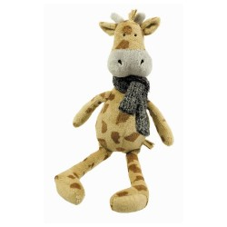 Plush giraffe with scarf