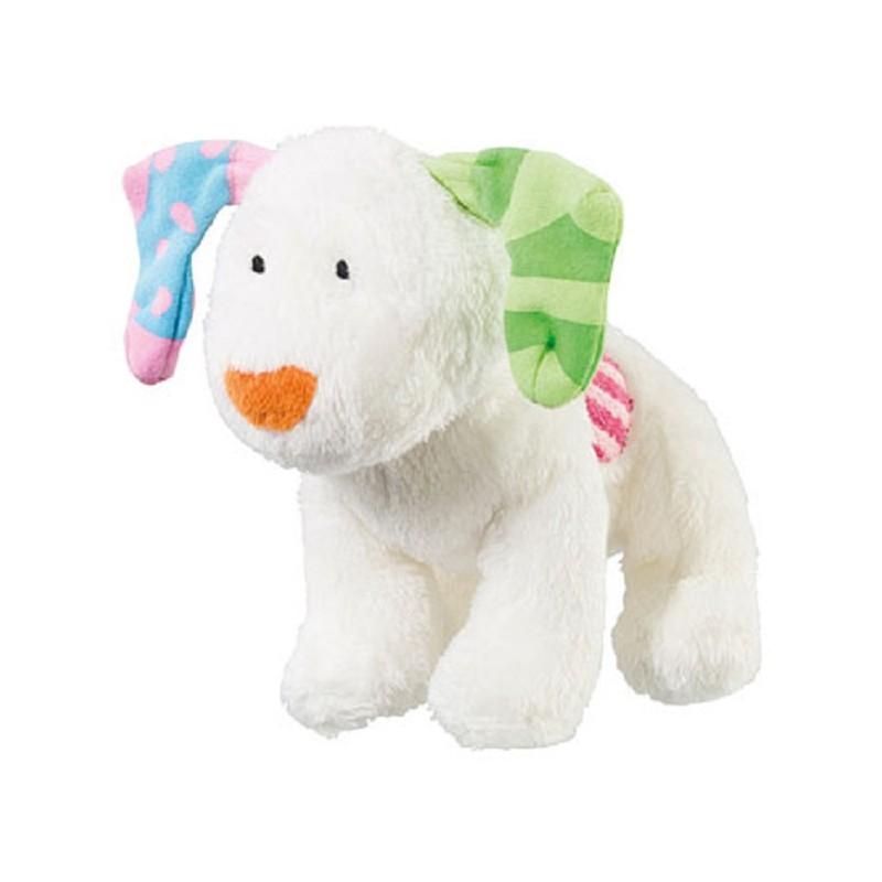 peluche chien le bonhomme de neige et le petit chien blanc babitoudou. Black Bedroom Furniture Sets. Home Design Ideas