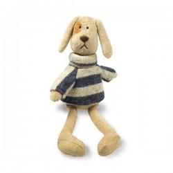 Knuffel hond met trui met rolkraag