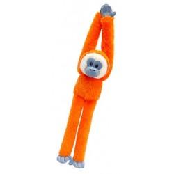 Peluche singe 50 cm orange