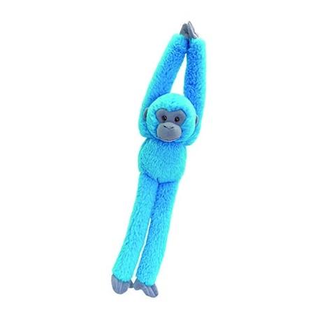 Peluche singe 50 cm bleu