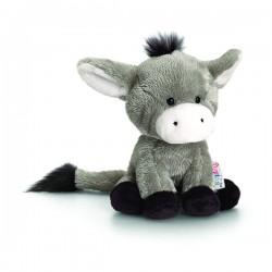 """Plush donkey """"Pippins"""" 14 cm gray"""