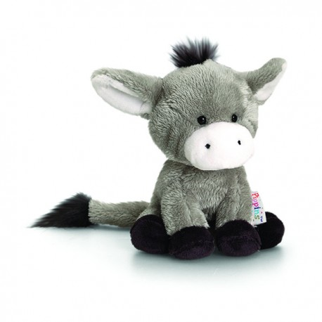 "Plush donkey ""Pippins"" 14 cm gray"