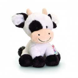 "Knuffel koe ""Pippins"" 14 cm wit"