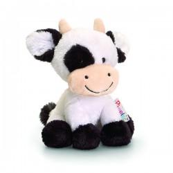 """Peluche vache """"Pippins"""" 14 cm blanc"""