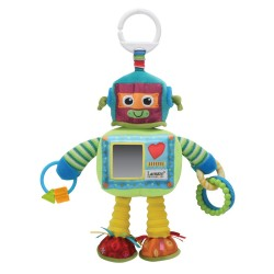 "Developmental robot plush ""Rusty the robot"""