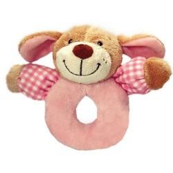 "Rattle dog / puppy ""vichy"" pink"