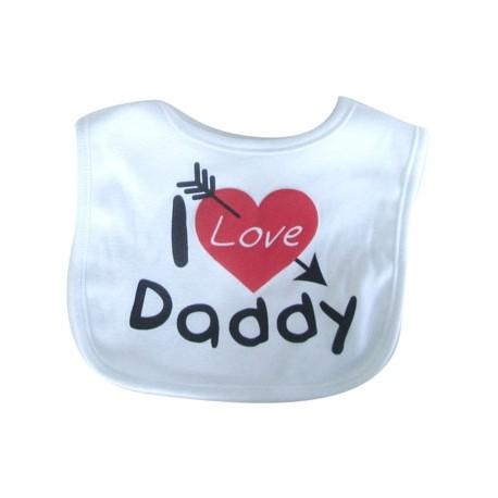 """Bib """"I Love Daddy"""" while"""