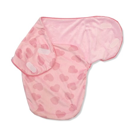 """Swadle bag for newborn """"hearts"""" pink"""