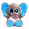 "Plush elephant ""Animotsu"" gray and blue"
