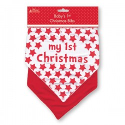 Pack of 2 Christmas bibs red